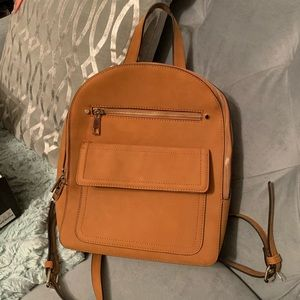 Gap Cognac Faux Suede Backpack - NWT
